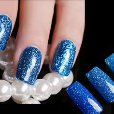 Blue Hybrid UV Gel Nail Art Polish Long-lasting Soak Off LED DIY... ($7.29) ❤ liked on Polyvore featuring beauty products, nail care, gel nail care and manicure tools