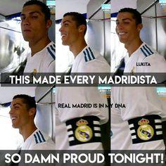Tonight during Trofeo de Santiago Bernabeu, Ronaldo came out wearing the captain's armband