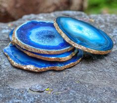 blue geode coasters