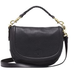 Small Effie Satchel Black Spongy Pebbled (1,255 CAD) ❤ liked on Polyvore featuring bags, handbags, shoulder bags, accessories, purses, sac, bolsas, black cross body purse, crossbody handbags and black satchel handbag