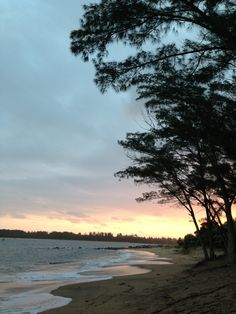 Sunset on the beach, Richards Bay. Beautiful image, but Richards Bay brings back horrific memories of nearly drowning, alongside my brother and one of my sisters.