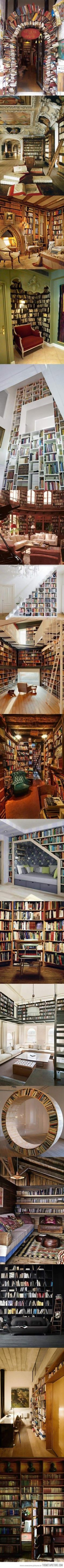 Can my house just be full of bookshelves? ... Can you think of another way to arrange books or does this cover all possibilities? You are officially challenged.