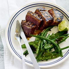 Grill or barbecue tuna steaks with our simple recipe