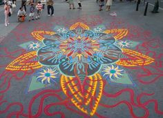Spiritual practice meets street art in artist's extraordinary sand paintings (Video) : TreeHugger