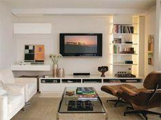 Sala de TV com poltronas