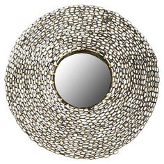 Found it at AllModern - Jeweled Chain Mirror in Natural Brown & Gold
