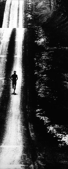 Photographer/Creator  Henry Barnett  Collection  1970  Publisher  Des Moines Register & Tribune  Caption/Description  Photograph shows a lone cross country runner.