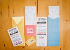 Letter press invitations Catarina & Rui Wedding | Como Branco Wedding Concepts