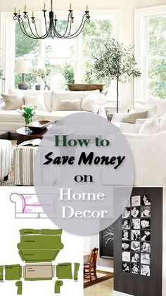 How to Save Money on Home Decor • Tips and tutorials on decorating your home on a budget, including paint techniques, how to make slipcovers, and more great ideas!