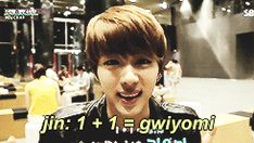 Bangtan Boys, Jin, Suga lol his face is like alrighty then