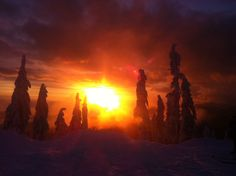 Mt. Seymour winter sunset