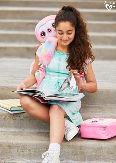 School work is sweeter with sloth snuggles on the go. Tween Girl Gifts, Tween Girls, Cheap Flower Girl Dresses, Girls Dresses, Camo Denim Jacket, Justice Bags, Kids Mma, Fit Black Women, Justice Clothing
