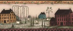 saltbox houses~~I have this border in my living room.
