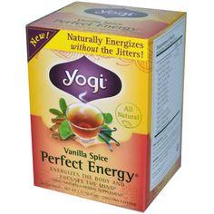 Yogi Tea, Perfect Energy, Vanilla Spice, 16 Tea Bags, 1.12 oz (32 g) - iHerb.com. Bruk gjerne rabattkoden min (CEC956) hvis du vil handle på iHerb for første gang. Da får du $5 i rabatt på din første ordre (eller $10 om du handler for over $40), og jeg blir kjempeglad, siden jeg får poeng som jeg kan handle for på iHerb. :-)