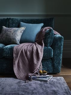 Pair rich jewelled tones with soft velvet for a comfy take on this luxurious winter interior trend. Featured here is Multiyork's sumptuous Joshua sofa.
