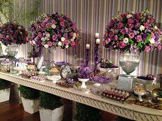 decoração de casamento rosa e lilás