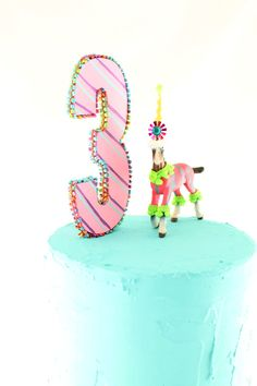 Number 3 Cake Topper by PaintedParade on Etsy