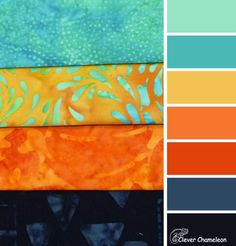 Sew Melodic colour scheme from Clever Chameleon Color Schemes Colour Palettes, Room Color Schemes, Colour Pallette, Color Combos, Orange Color Schemes, Palette Art, Deco Orange, Colour Board, Colour Set