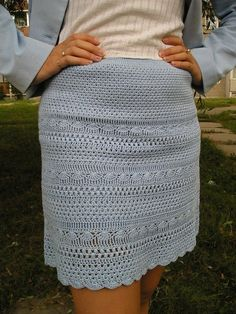 """Patterned skirt crochet - So cute!   I haven't seen anything like this skirt.  Next on the """"For Me"""" list !!"""