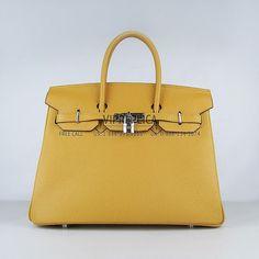 Hermes Birkin Yellow Silver 2