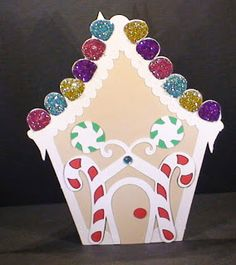 Touched By A Butterfly: Gingerbread House Cards