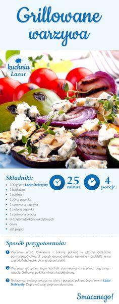 Grillowane warzywa z serem /grill /warzywa /Lazur /ser pleśniowy /rokpol /przepisy /kuchnia lazur Grilling, Cooking, Food, Kitchen, Crickets, Essen, Meals, Yemek, Brewing