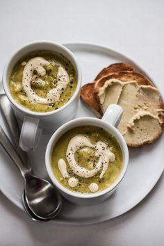 Creamy Vegan Broccoli Potato Soup | edibleperspective.com #vegan #glutenfree