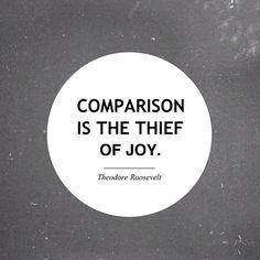 comparison and joy