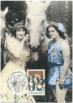 150th Anniversary of Circus in Australia. May Wirth with her stepsister (Circus World Museum. Baraboo)_Australia Post. Source http://www.flickr.com/photos/42399206@N03/4500023272/