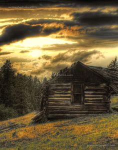Sunset over the Bitterroot Valley, Western Montana