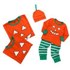 halloween pumpkin parent child clothing kids christmas pajamas famil blindly shop