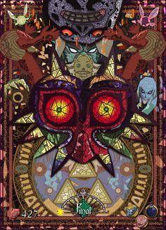The Legend of Zelda, Majora's Mask Legend Of Zelda Timeline, Legend Of Zelda Memes, Legend Of Zelda Breath, Majora Mask, Zelda Drawing, Image Zelda, Zelda Tattoo, Mask Drawing, Wallpaper Animes