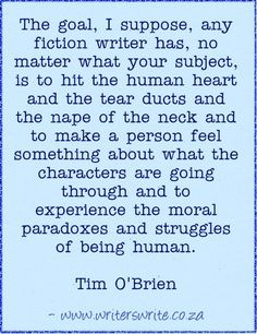 Quotable - Tim O'Brien - Writers Write