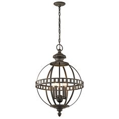 Halleron 5 Light Chandelier in Olde Bronze OZ
