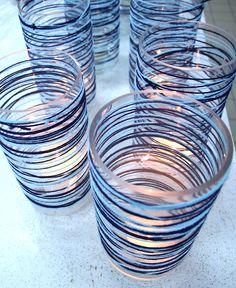 Yarn Wrapped Candle Jars