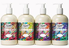 A limited edition line of Kiehl's Creme de Corps. The labels allows a customize message from the customers to their loved ones. Each label has a similar design with different color scheme.
