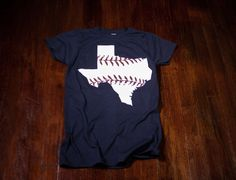 Texas baseball Ladies tshirt in Texas Rangers colors by watatees