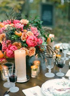 Al Fresco Autumn Soiree from Beehive Events  Read more - http://www.stylemepretty.com/living/2013/11/26/al-fresco-autumn-soiree-from-beehive-events/