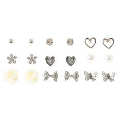 Rose Love Stud Earring Set