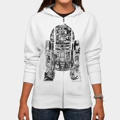 This R2-D2 hoodie is the droid hoodie you're looking for! Features a cool, modern graphic R2-D2 print. Star Wars fans, get your epic R2-D2 hoodie today!