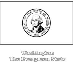 Washington State Flag To Color From NETSTATECOM