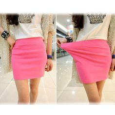 579bd25f08 US $4.57 15% OFF|Fashion Women Ladies Sexy Summer Package Hip Pencil Skirt  Seamless Elastic Pleated High Waist Slim Mini Skirts For Office Party-in  Skirts ...