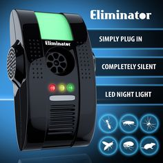 Eliminator___ Electronic Powerful Pest Repeller with Night Light - Eliminates Insects and Rodents ** Tried it! Love it! Click the image. : home diy yard