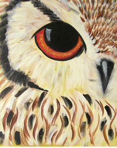 I just love this owl painting! I wish I could paint like this! Owl Art, Bird Art, Art Plastique, Painting Inspiration, Painting & Drawing, Amazing Art, Awesome, Art Drawings, Art Projects