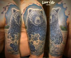 Love Life Bear Tattoo.