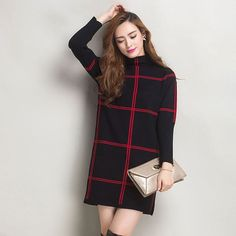 Cashmere Sweater Women New Autumn Winter Fashion Plaid Turtleneck Long Wool Sweaters Slim Tight Bottoming Knitted Pullovers Hot