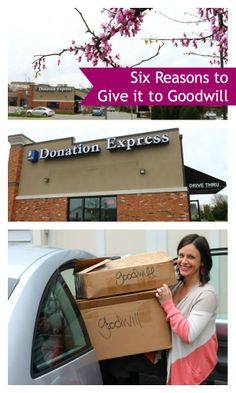 6 Reasons to Give it to Goodwill (@Louisa Jane Jane Goodwill Industries International )
