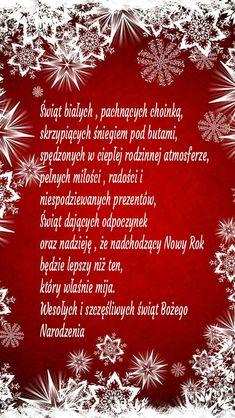 Kartka świąteczna 🎅🌲🌲🎅🌲💚🎅🌲💚 Christmas Wishes, All Things Christmas, Christmas Time, Christmas Cards, Xmas, Holidays And Events, Birthday Wishes, Special Day, Motto