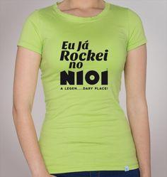 Modelo - Eu já Rockei no N101  Também disponível em branco, preto e azul iwale.