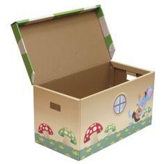 Baúl 100 litros  http://www.elbaobabverde.com/de-carton-reciclado/baul-100-litros    Caja de almacenaje con una capacidad de 100 litros, realizada en cartón reciclado  Este producto está realizado en cartón reciclado. Como toda la gama de productos de Kroom, tienen un diseño pensado en los niños y su seguridad, evitando sustancias peligrosas.    El baúl llega a soportar un peso máximo de 32 kilos. Requiere montaje, pero para ello no es necesaria ninguna herramienta.    Medidas: 81x41x40 cm.